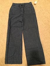 New Ralph Lauren Women's Blue Stripe Linen Cotton Blend Provence Pants Sz 2 NWT