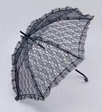 Parasol. pizzo nero, periodo Drama, costume storico, sole ombra, Ombrello