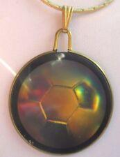 pendentif chaîne couleur or médaillon ballon hologramme rare bijou vintage 2753