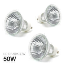 |3-Pack| 50 Watt  GU10 120 Volt Halogen Indoor Outdoor Light Bulb Dimmable