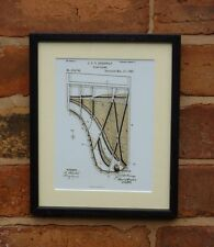 USA Patent Drawing vintage GRAND STEINWAY PIANO FRAME  music MOUNTED PRINT 1885