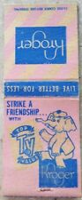 Kroger elephant vintage matchbook cover Ohio match unshucked hc4