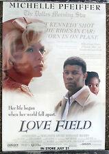 ORIGINAL LOVE FIELD VIDEO ONE SHEET MOVIE POSTER 1993 MICHELLE PFEIFFER KENNEDY