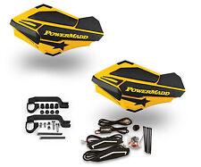 Powermadd Sentinel LED Handguards Ski Doo Yellow Black Mount All Sport ATV's
