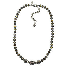 KIRKS FOLLY COSMIC GOLD BEADED MAGNETIC NECKLACE antique silvertone
