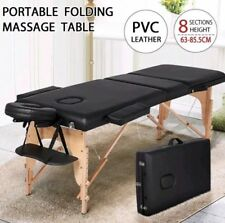 Adjustable Beauty Salon Massage Bed Portable Folding Wooden Leather Comfortable
