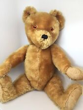 "Vintage 1950's - 60's Farnell Stuffed Teddy Bear 20"" Mohair 5 Jointed Growler UK"
