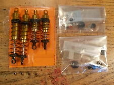 DuraTrax Front & Rear Gold Shock Set / Like W-5001 W-5002 - Kyosho Turbo Raider