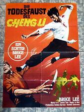 Bruce Lee-muerte puño del Cheng Li * a1-película póster ger 1-sheet Eastern 18.07.1975