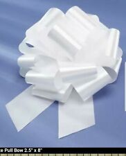 "New white WEDDING 8"" PULL Bow PEW BRIDAL DECORATION Reusable."