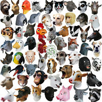 Latex Full Head Overhead Animal Cosplay Masquerade Fancy Dress Up Carnival Mask