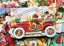 Punch Studio Valentine Cards Set 12 Ephemera Antique Victorian Cat Dog Bird