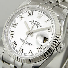 UNWORN ROLEX 116234 DATEJUST 36 mm MENS STEEL JUBILEE BRACELET WHITE ROMAN DIAL