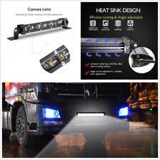 1-Row 60W Automobile 8'' 6000K Xenon White 6D Spot Beam Slim LED Work Light Bar