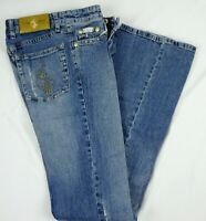 Baby Phat Womans Distressed Blue Jeans Size 3 Embellished