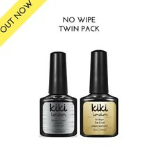 NO-WIPE TOP + BASE COAT - By KIKI LONDON - Nail Gel Polish - UV/LED - UK Seller