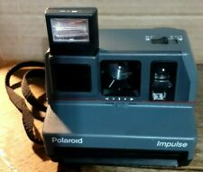 Polaroid Impulse 600 Gray Camera With Strap In Working Condition