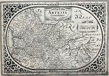 France Artois 1631 by Janssonius, Artesia Comitatus antique map