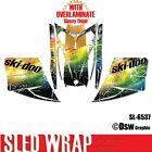 SLED WRAP DECAL STICKER GRAPHICS KIT FOR SKI-DOO REV MXZ SNOWMOBILE 03-07 SL6537