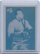 "BRUTUS ""THE BARBER"" BEEFCAKE 1990 CLASSIC PRINTING PRESS PLATE WWE WRESTLING 1/1"