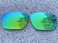 ETCHED GREEN POLARISED MIRRORED REPLACEMENT OAKLEY HOLBROOK LENSES