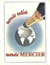 Publicité Advertising 117  1955  champagne Mercier dans le monde entier