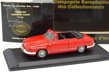 Leader Resina CEC 1/43 - Panhard PL17 Cabrio Rosso