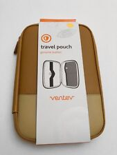 "Ventev Genuine Leather Travel Pouch Case for 7"" inch Tablets - Brown/Tan"