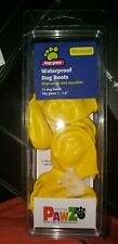Top Paw Rubber Dog BOOTS Waterproof Reusable Disposable XXSmall Yellow 12 pk