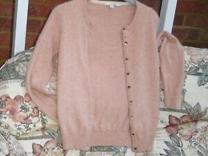 Boden Beige Pink  100% Cashmere Cardigan  UK 10