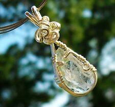 Large Phenacite 3rd Eye SoulStar Chakra Sterling Silver Handmade Reiki Pendant