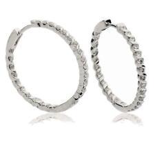 Diamond Hoop Earrings 0.75ct F VS in 18ct White Gold