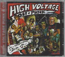 VARIOUS ARTISTS - HIGH VOLTAGE Oi! + PUNK - (still sealed cd) - STEP CD 046