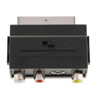 Scart Video Audio Adpater Converter to 3 RCA Adaptor for PS4/WII DVD