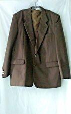 Haband RN 58217 Men's Solid Brown Polyester Blazer Sport Coat Jacket 46RP Lined