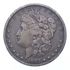 Early - 1882 Morgan Silver Dollar - 90% US Coin *263