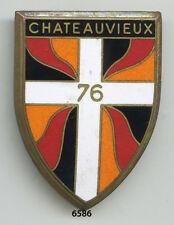 Insigne infanterie ,  76 RI.  ( émail,  44x32 )
