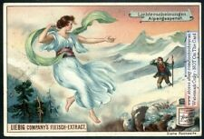Hiker And Guardian Angel In Whiteout Snow Storm 1895 Ad Card