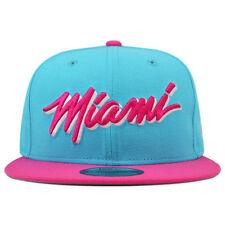 Miami Heat Custom VICE BLUE/HOT PINK Snapback 9Fifty New Era NBA Hat