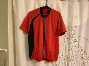 Specialized Bike Bicycle Biking Athletic Stretch Full Zip Jersey Shirt Extra Lar