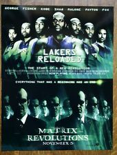 """2003 - LOS ANGELES LAKERS """"LAKERS RELOADED"""" MOVIE POSTER - KOBE, SHAQ, FISHER"""