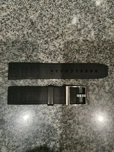 BREITLING Kautschuk Armband 22mm schwarz mit original Stahl Dornschliesse