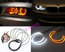 Dual Color LED Angel Eye Light Halo Ring For BMW E46 Non Projector Headlight