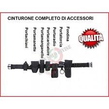 Cinturone Completo di Fondina e Vari Accessori Cordura Vigilanza Guardie 22763A
