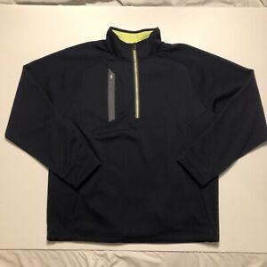 Zero Restriction Golf Quarter Zip Size XL Blue Polyester