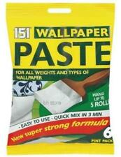 5 Roll Wallpaper Paste PK 6 Pints Super Strong Stick Adhesive All Purpose -
