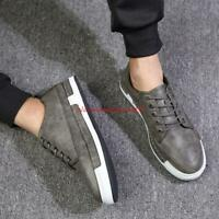 Fashion Mens PU Leather lace up wing tip oxford Brogue dress casual shoes