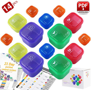 21 Day Fix Containers and Food Plan Portion Control Container Kit for Weight L