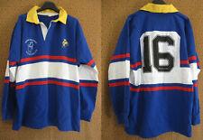Maillot Rugby porté #16 numero cousu The Barbare Riants coton vintage - 6 / XL