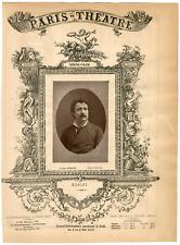 Lemercier, Paris-Théâtre, Angelo Masini (1844-1926), ténor Vintage Albumen Print